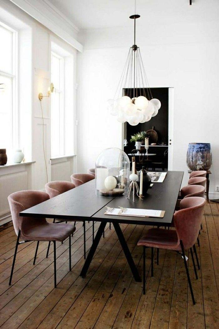Chaises modernes Salle à manger Grande table à manger Plancher – # Chaises #Diner # Étage #lar …