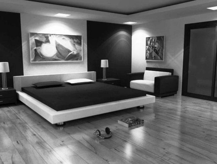 Chambre noire et blanche – signification des couleurs et combinaisons en 80 photos splendides! – Archzine.fr