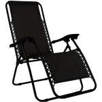 Charles Fauteuil/chaise longue - pliable - camping et jardin - Noir - CHARLES BENTLEY