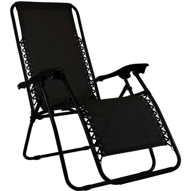 Charles Fauteuil/chaise longue – pliable – camping et jardin – Noir – CHARLES BENTLEY