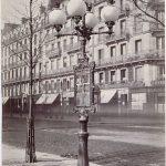 Charles Marville (1816-1878). 'Album mobilier urbain' : street lamp, boulevard d...