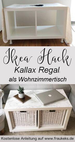 Comment construire une table de salon élégante à partir d'une simple étagère Kallax …