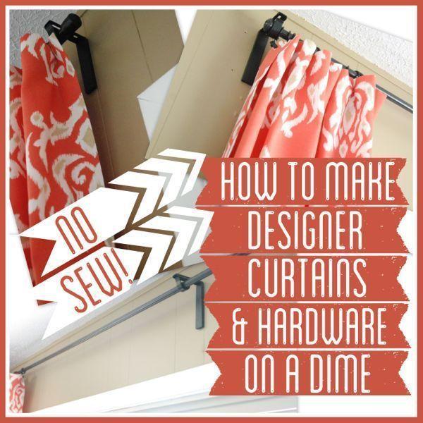 Comment fabriquer des rideaux à coudre pincés sans couture 2019 Comment fabriquer des rideaux sans couture …