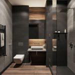 Conception de salles de bains dans des tons sombres - idées et décoration