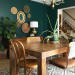 Console de salle à manger Cette couleur de mur! Semble bien avec les meubles; ça fait la chambre. #de #le ...