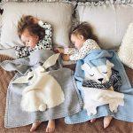 Couette de lapin tricoté houblon