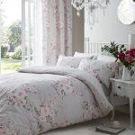 Couette réversible couette réversible en coton mélangé à fleurs floral gris rose rose