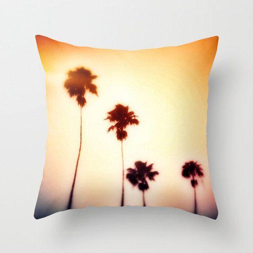 Couvre-oreillers Mango Orange Beach Surf Palmiers de NatureCity