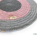 Crochet tapis / Tapis rond / Tapis de pépinière / Tapis de chambre d'enfants / Cadeau de pendaison de crémaillère / Tapis de coton / Tapis