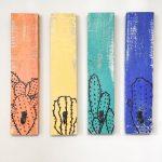 Crochets muraux en bois de cactus, crochets pour mur, porte-manteau, porte-manteau en cactus, crochets muraux en bois, portemanteau rustique, crochets peints à la main pour salle de bain