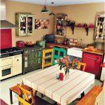 Cuisine rétro décorative - 20 idées de paysage chic, industriel et moderne
