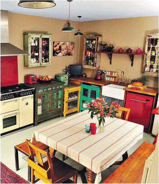 Cuisine rétro décorative – 20 idées de paysage chic, industriel et moderne
