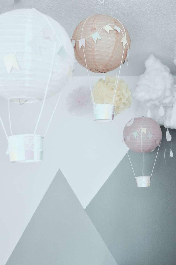 DIY-Deko-Idee ° Fabriquez des ballons à air chaud pour la pépinière