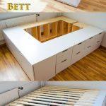DIY IKEA HACk - Un lit plateforme conçu à partir de commodes / publicités Ikea