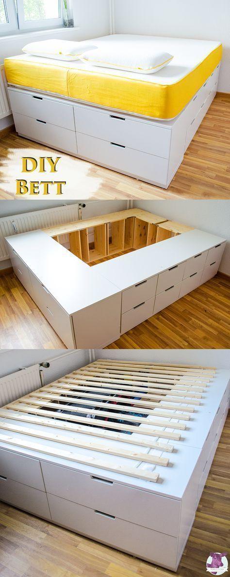 DIY IKEA HACk – Un lit plateforme conçu à partir de commodes / publicités Ikea