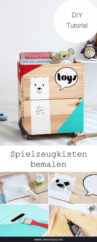 DIYnachten: coffres à jouets peints avec Marabu | dekotopia
