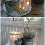 Décor de lumières de porche de table de bobine de fil DIY - idée de recyclage de bobine de câble en bois