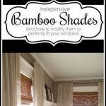 Des instructions détaillées sur la coupe des stores en bambou tissé pour s'adapter parfaitement à votre ...