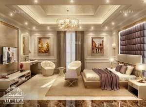 Design de chambre principale de luxe