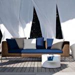 Designs de meubles de patio fantastiques avec rideau blanc -...- Designs de meub...