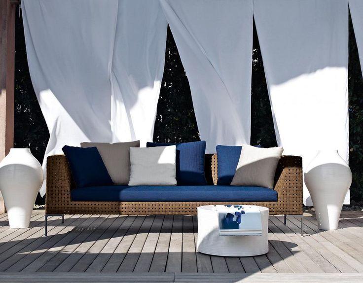Designs de meubles de patio fantastiques avec rideau blanc -…- Designs de meub…