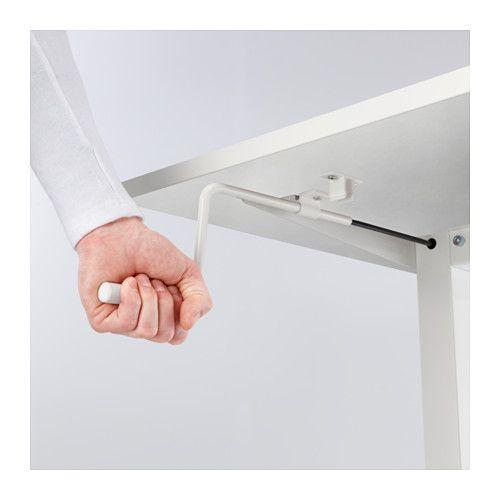 "Desk sit/stand, white, 63×31 1/2 """