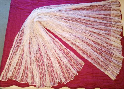Détails sur Grand rideau blanc à motifs ourlet passe tringle 210 x 232 cm réglable curtain