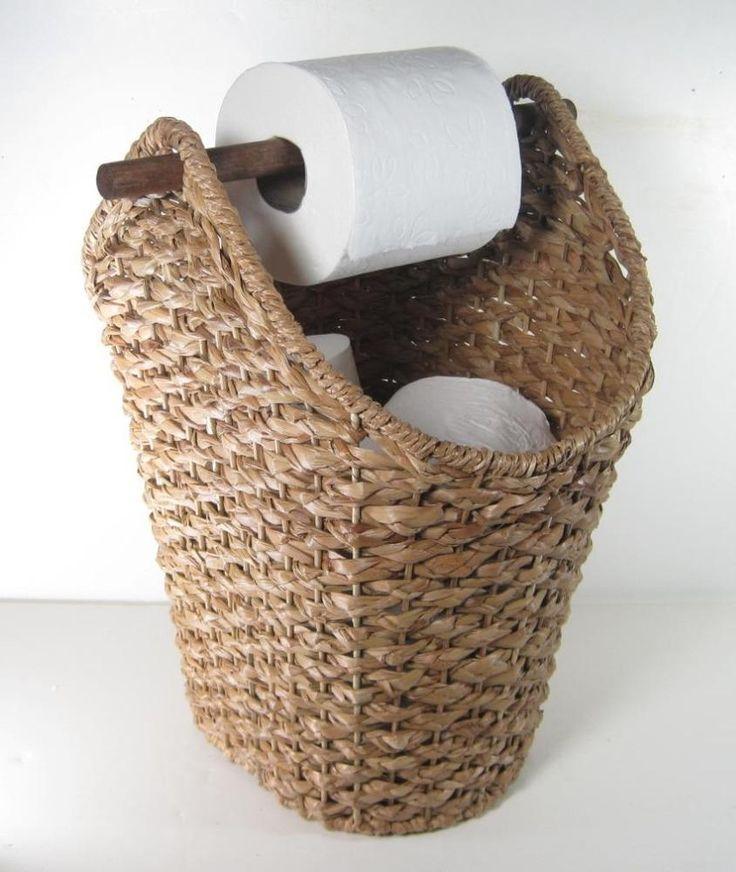 Détails sur Support tressé en corde pour corbeille à papier de toilette style rustique rustique Présentoir de salle de bains Titre original – Susan Jones