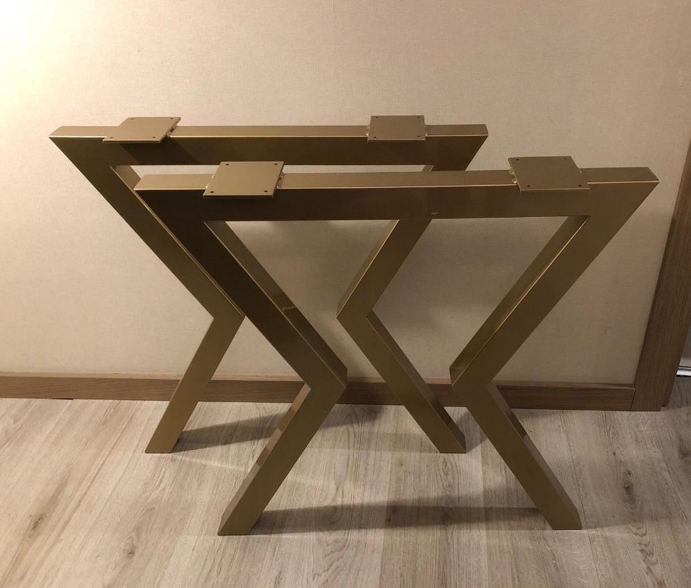 ENSEMBLE de 2 pieds de table à manger/cuisine, pieds de table style industriel, pieds de table de style Loft, pieds de table de style minimaliste, pieds de table en acier, table en métal