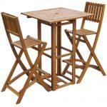 Ensemble de bar d'extérieur vidaXL en bois d'acacia massif, restaurant, café, siège de table, chaise de pub 8718475502630 | eBay