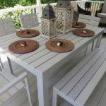 Ensemble de bistrot de patio Coronado en acacia avec 3 coussins - Fini teck - Christopher Knight ...