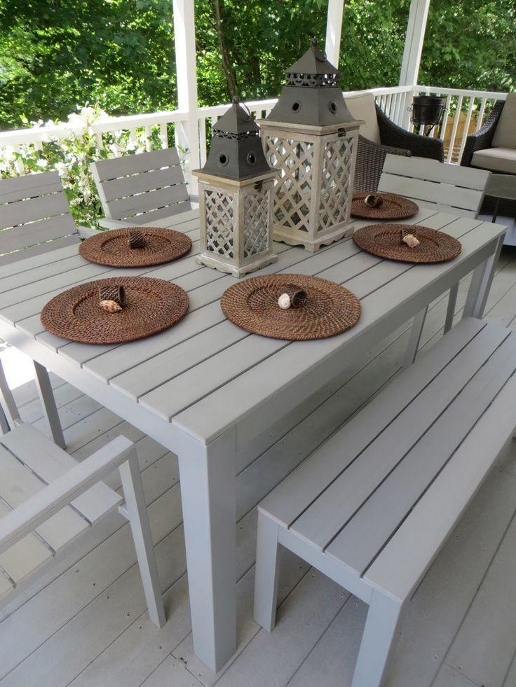 Ensemble de bistrot de patio Coronado en acacia avec 3 coussins – Fini teck – Christopher Knight …