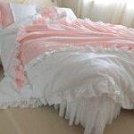 Ensemble de literie de luxe pur coton 4pcs Princesse King Size DuvetCover ...