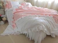 Ensemble de literie de luxe pur coton 4pcs Princesse King Size DuvetCover …