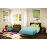 Ensemble de meubles de chambre à coucher moderne avec deux lits jumeaux, cadre ...