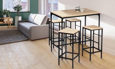 Ensemble de table et tabourets à placer dans une cuisine ou une salle à manger…