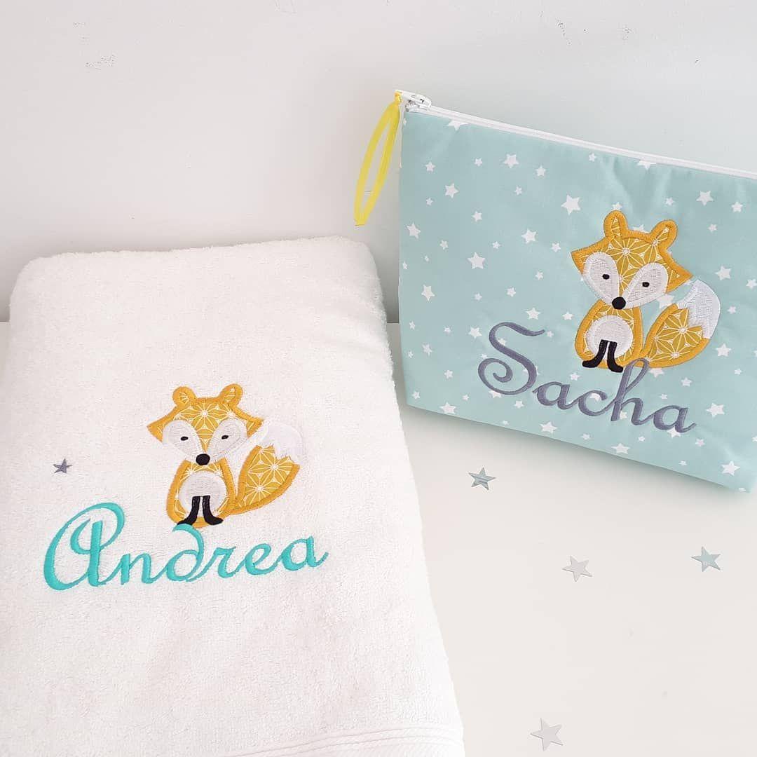 Ensemble renard trousse de toilette et serviette de bain. . – – #cadeaudenoël #…