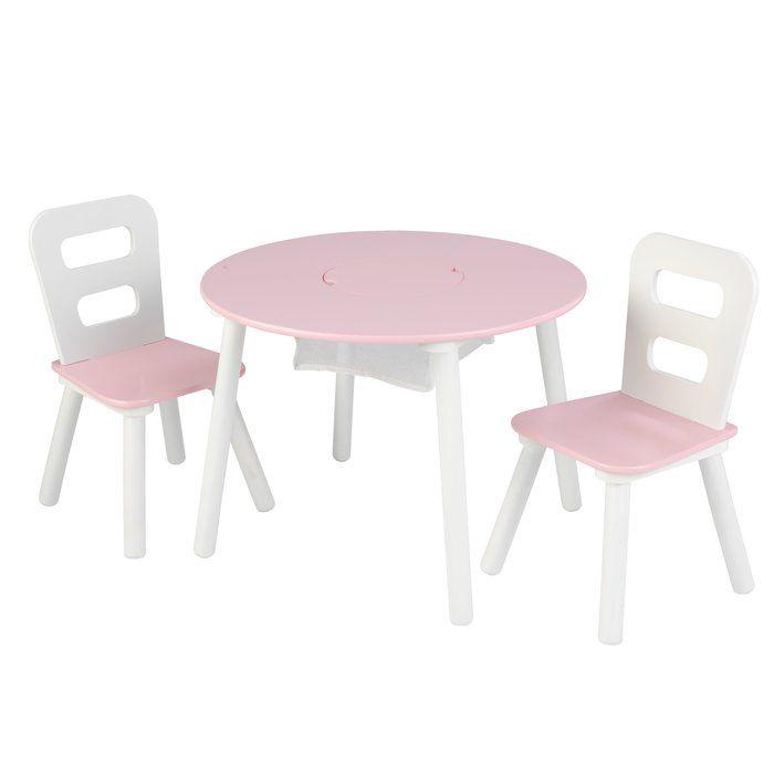 Ensemble table et chaises rondes Kids 3 pièces