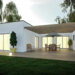 Extension de maison design avec pergola et terrasse : modèle ZEN