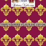 Fleur de Lys Or tissu style Empire pourpre