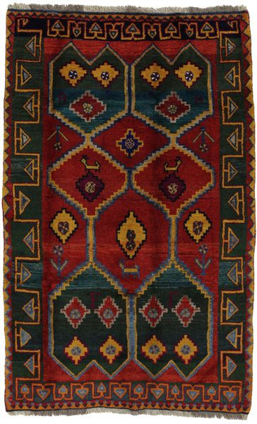 Gabbeh – Qashqai Tapis Persan | gbh972-2045