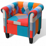 Granvill Patchwork Tufted Armchair