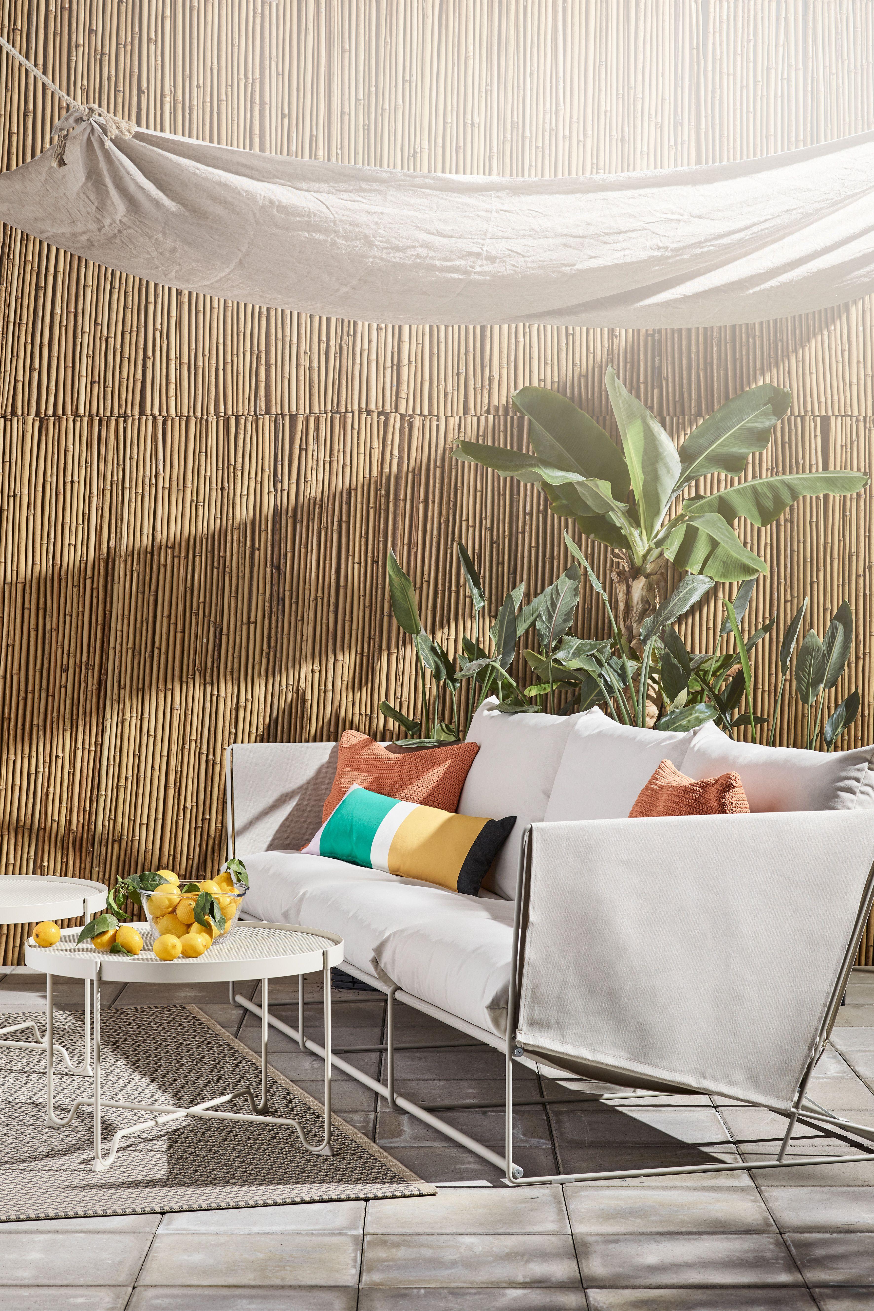 HAVSTEN canapé 2 places, intérieur / extérieur – beige
