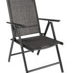 HI Chaise de jardin inclinable Aluminium Gris