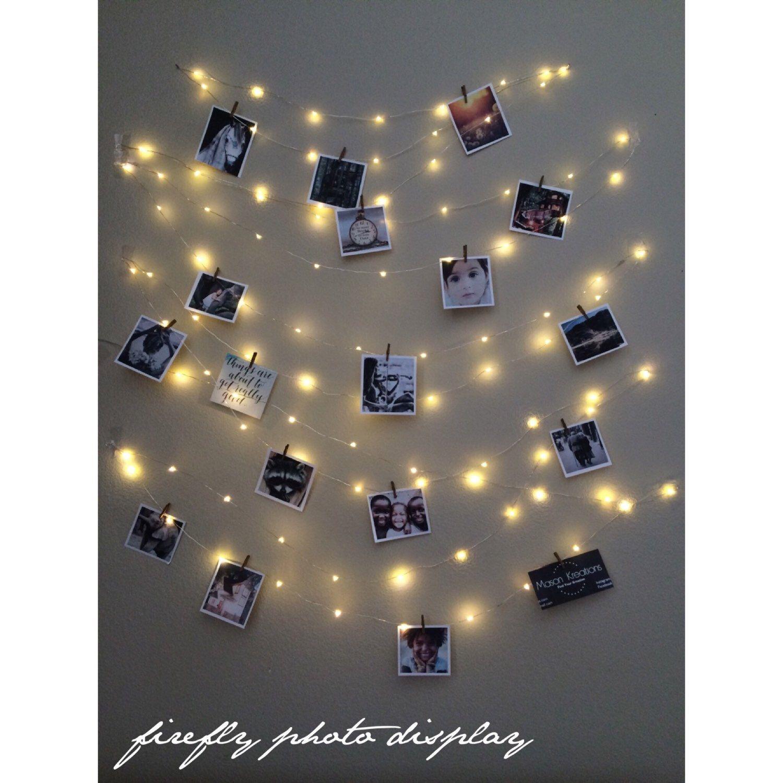 Hanging light Photo display, Fairy Lights Photo Display, string lights, dorm decor, Fairy Light Bedroom, Photo String, fairy light dorm