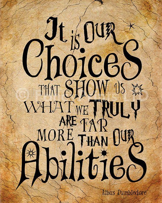 Harry Potter cite Albus Dumbledore cité par FancyPrintsforHome