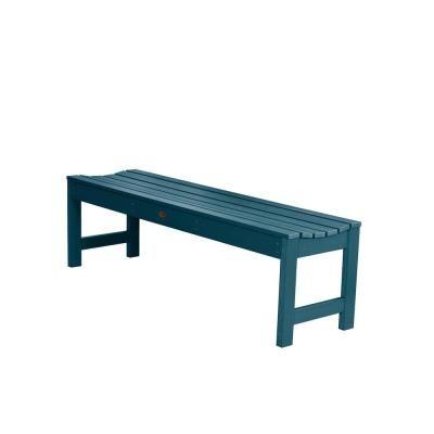 Highwood Lehigh Banc de pique-nique extérieur en plastique recyclé bleu de 60 po pour 2 personnes Nantucket-AD-BENN1-NBE – Home Depot