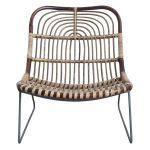 House Doctor Kawa - Chaise longue marron