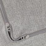 IKEA - DELAKTIG Housse pour coussin de siège de fauteuil Tallmyra blanc / noir