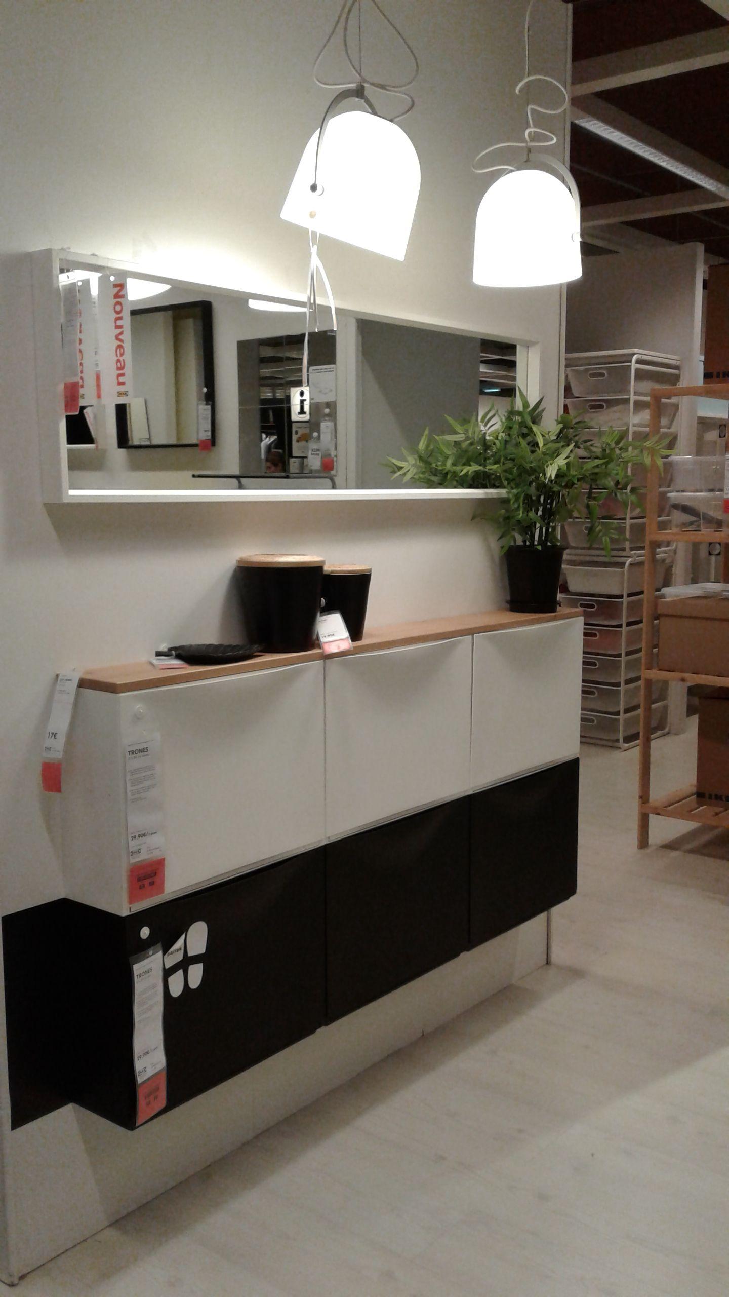 IKEA – TRONES (51x39cm) vendu par 3 29,90€, Tablette brun clair EKBY HEMNES (7…